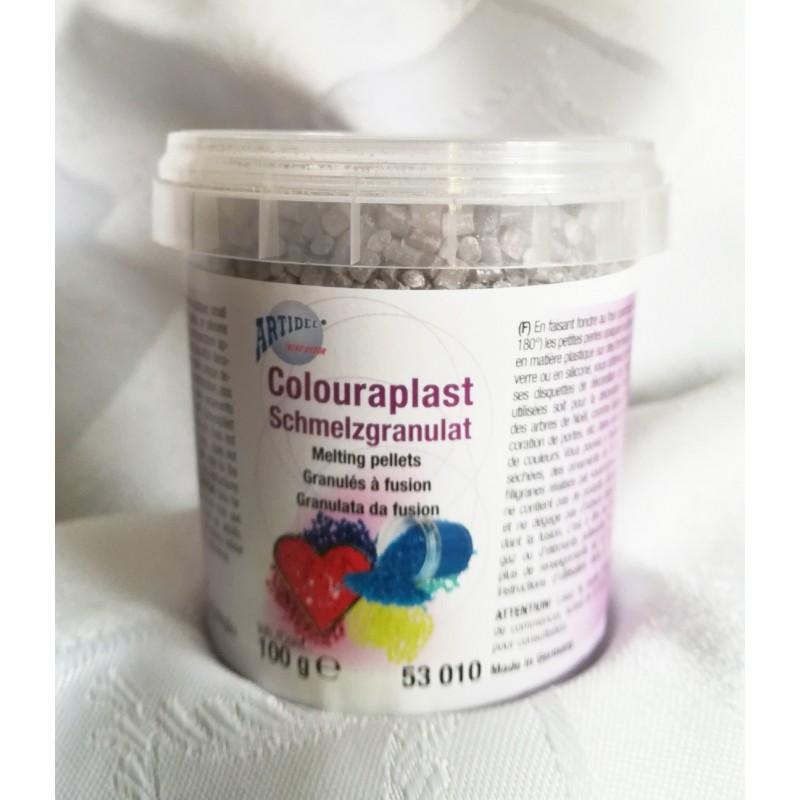 Granulat colouraplast - srebrny100g