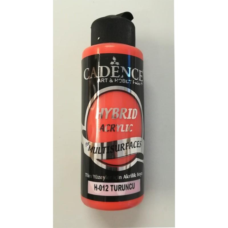 Farba  hybrydowa pomarańczowy120 ml
