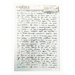 Szablon Cadence, napis A4 Ma 86