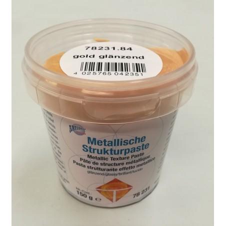 Pasta strukturalna metaliczna - złota