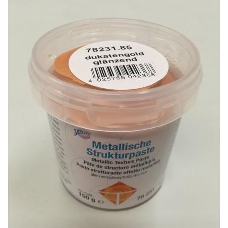 Pasta strukturalna metaliczna - złoto dukatowe