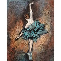 Obraz z baletnicą 24x30 cm...