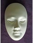 Maski, twarze gipsowe